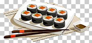 Sushi Japanese Cuisine Fish Slice Food PNG
