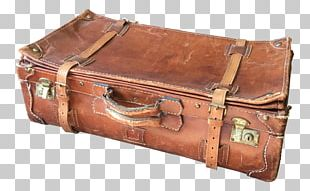 Trunk Baggage Suitcase Leather PNG