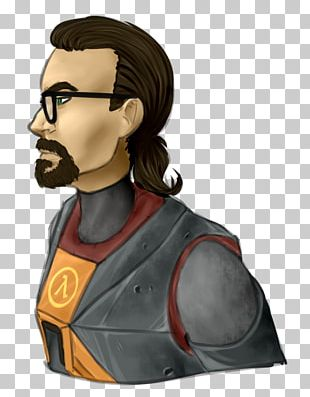 Gordon Freeman Half-Life 2 Wiki Monochrome PNG