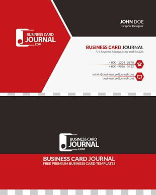 Paper Business Card Red Advertising PNG