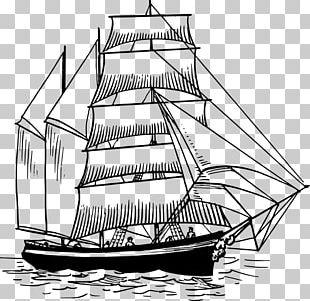 Sailing Ship Sailboat PNG