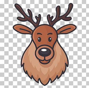 Reindeer Horn Antler Icon PNG