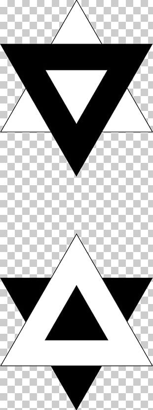 Yin And Yang Symbol Valknut Triangle I Ching PNG