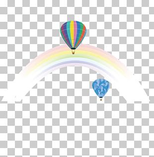 Hot Air Balloon Rainbow Color Euclidean PNG
