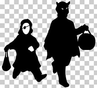 Halloween Trick-or-treating Shadow PNG