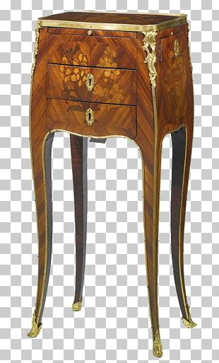 Table Nightstand French Furniture Marquetry PNG