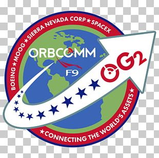 Falcon 9 Low Earth Orbit Mission Patch Satellite Orbcomm PNG