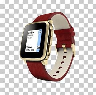 Pebble Time Smartwatch Tiny Catch Gold PNG