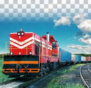 Rail Transport Train Rail Freight Transport Logistics PNG