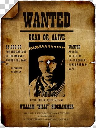 Wanted Poster Template PNG