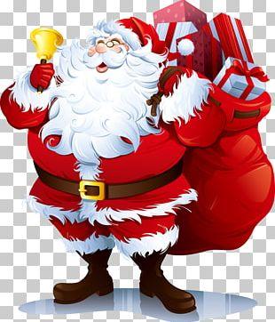 Santa Claus Rudolph Christmas PNG