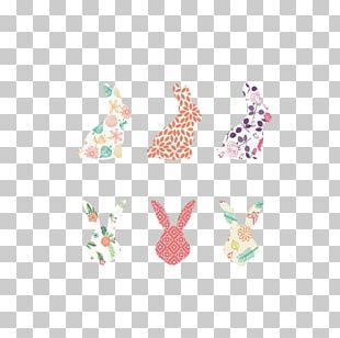 Silhouette Rabbit Illustration PNG