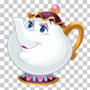 Beast Belle Mrs. Potts Character PNG