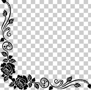 Black Rose Best Borders Flower Bouquet PNG