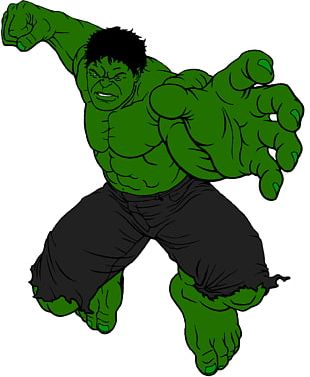 Hulk Superhero Cartoon Marvel Comics Drawing PNG