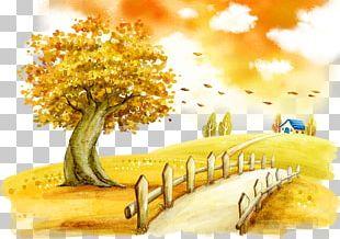 Autumn Fukei Cartoon Illustration PNG