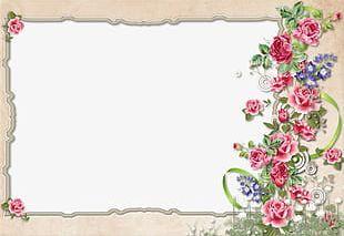Floral Border Design PNG