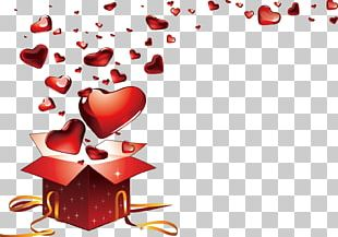 Valentines Day Heart Gift Love PNG