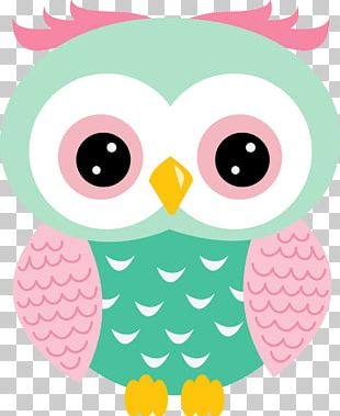 Drawing Little Owl Pink Party PNG