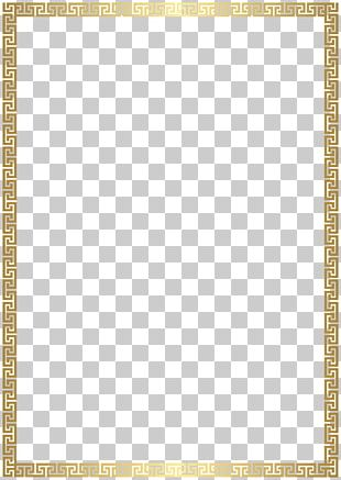 Rectangle Gold PNG