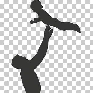 Silhouette Child Father Son PNG