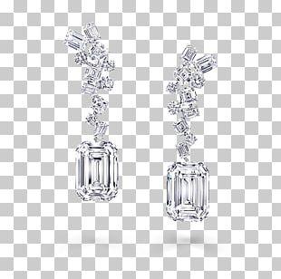 Earring Graff Diamonds Diamond Cut Jewellery PNG