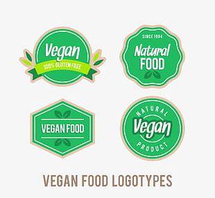 Vintage Vegan Logo PNG