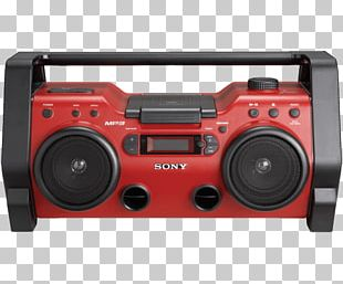 Boombox Sony Corporation Portable CD Player Compact Disc PNG