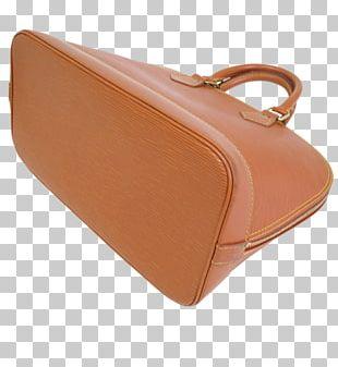 Handbag Leather Brown Caramel Color PNG
