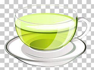 Green Tea Glass PNG