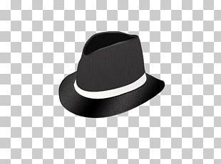 Black Hat Fedora PNG