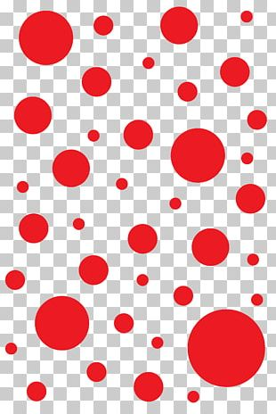 Polka Dot T-shirt Red Designer PNG