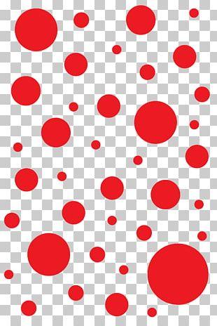 Polka Dot T-shirt Red Designer PNG