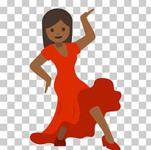 Dancing Emoji Woman Dancing Android Nougat PNG