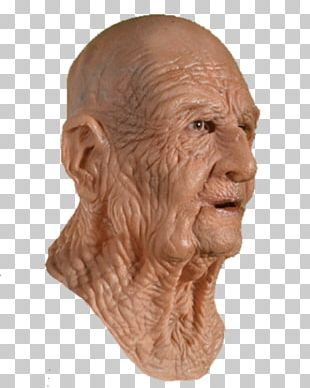Latex Mask Man Costume Wrinkle PNG