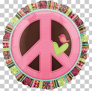 Balloon Peace Symbols Hippie 1960s Birthday PNG