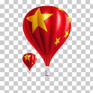 Flag Of China Flight Balloon PNG