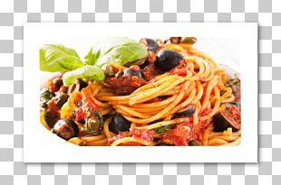 Spaghetti Alla Puttanesca Pasta Italian Cuisine Tomato Sauce PNG