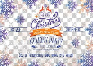 Poster Christmas New Year PNG