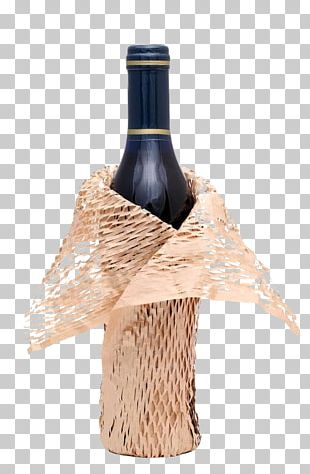 Red Wine Paper Bottle Gift Wrapping PNG