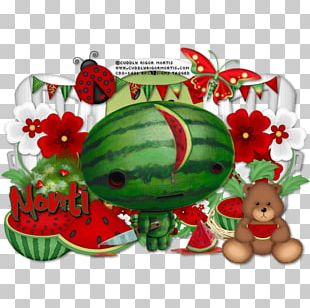 Watermelon Christmas Ornament Christmas Day Character Fiction PNG