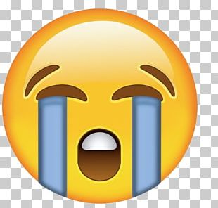 Face With Tears Of Joy Emoji Sticker Crying Text Messaging PNG