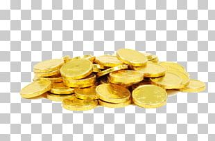 Chocolate Coin Gold Coin Christmas PNG