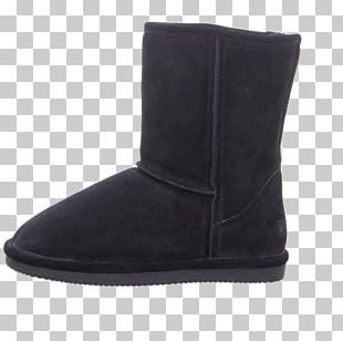 Snow Boot Suede Shoe Black M PNG