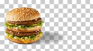 McDonald's Big Mac Hamburger Fast Food French Fries PNG