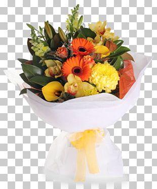 Floral Design Yellow Flower Bouquet Cut Flowers PNG