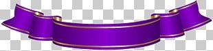 Banner Ribbon Purple PNG