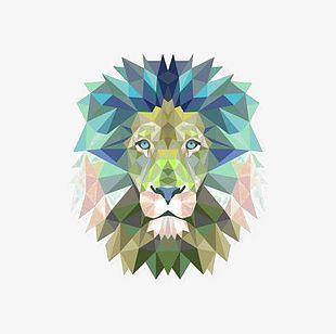 Geometric Lion PNG