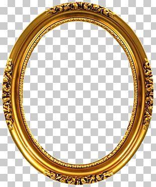 Frames Gold Oval Decorative Arts Ornament PNG