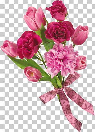 Flower Bouquet Tulip Desktop Rose PNG